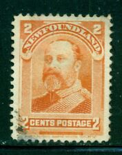 NEWFOUNDLAND 81 SG86 Used 1897 2c org Edward VII as Prince of Wales Cat$4