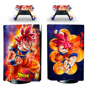 PS5 Standard Disc Console Vinyl Skins Stickers Anime Dragon Ball Super Red Goku