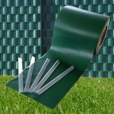 style home PVC 450g/m² 35mx19cm Sichtschutzstreifen Stabmattenzaun Streifen Grün