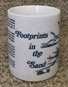 Footprints In The Sand Verse On Ceramic Mug Cup