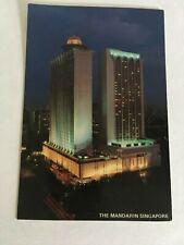 SINGAPORE VINTAGE - POSTCARD THE MANDARIN HOTEL -- SINGAPORE