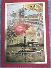 Papyrus Valentine's Day Card - Vintage Venice - Rose Gondola- By Gwynn Goodner