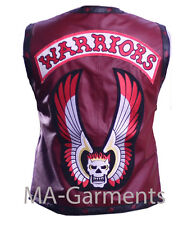 I GUERRIERI MOVIE LEATHER VEST Halloween Costume in Maroon Colore-alta qualità