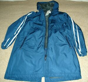 Sporti Striped Comfort Fleece Lined Swim Parka Youth, Blue Size Large NWT