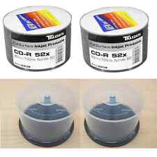 BUNDLE: 1 x 100 PACK TRAXDATA PRINTABLE 52X CD-R AND 2 x 50 DISC SPINDLE TUBS