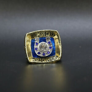 Baltimore Colts 1970 Super Bowl Championship Ring with Wooden Display Box