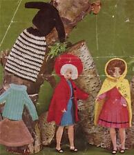 VINTAGE SINDY / BARBIE - 4ply & 8ply - COPY doll knitting pattern
