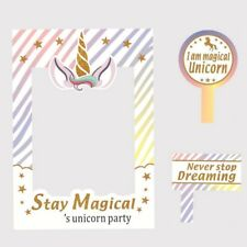1 set Unicorn Photo Booth Frame Kids Birthday Graduation Party Photography Props
