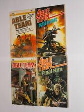 Able Team Don Pendleton & Dick Stivers. 4 Different Paperback Books.