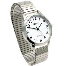 Ravel Men's Super-Clear Quartz Watch with Expanding Bracelet sil #35 R0232.01.1