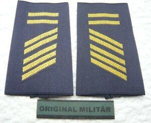 Rangabzeichen Marine Oberstabsgefreiter BA  gold/blau Schulter Klappen Schlaufen