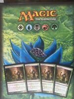 PLAYSET TOP PREMIUM DELUXE THE BEST CARDS MAGIC GATHERING DEATHRITE SHAMAN X4