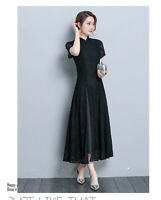 2019 Retro Formal Lace Slim Cheongsam Wedding Party Prom Cocktail Lady Dress