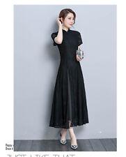 5861ed3be82 2018 Retro Formal Lace Ao Dai Cheongsam Wedding Party Prom Cocktail Maxi  Dress