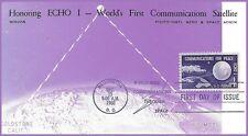 MISCHA ECHO I Worlds First Communications Satellite FDC Maxicard #1173
