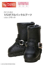 Azone Picconeemo S/M Double Buckle Boots Black 1/12 Fashion Doll