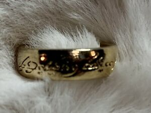 2003 Lord of the Rings Trilogy Edition RISK Gold Ring Replacement Part Only LOTR