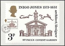 GB-UK PHQ Cards 1973 Inigo Jones 1573-1652 PHQ2F