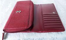 Ann Taylor Wallet/Checkbook Holder Organizer - Genuine Leather - Red- Beautiful!
