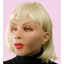 Adult ZAGONES Woman Doll Latex Mask Blonde Hair Costume 1006mebs