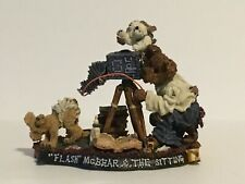 Boyds Bears Bearstone Flash Mc Bear and the Sitting photo Figurine retired Nos