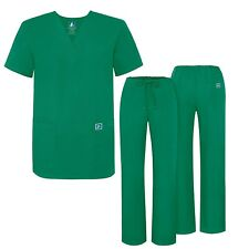Adar Universal Medical Scrubs Set Medical Uniforms - Unisex Fit (45 colors)