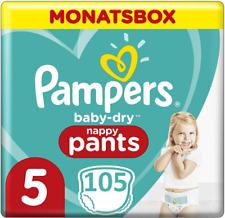 Pampers Couche-Culotte Bébé Sec Pantalon Gr 5 Junior 104 12 Jusqu'à 17 kg Mois