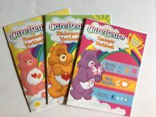 CareBears Set Of 3 Workbooks Concepts, Preschool & Kindergarten-Some Flaws