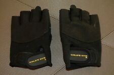 GOLDS GYM gloves L XL weight lifting half finger gym fitness