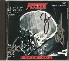 Accept - Death Row + 2 (Japan CD with Box + Booklet - Autographed by 4 members)
