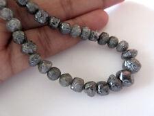 "16"" Round Black Raw Rough Rondelle 8mm-4mm Loose Diamond Beads Sku-DdS206/1"