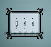 Light Switch Scroll Fleur de lis Vinyl Decal Stickers Wall Art Living Room Decor