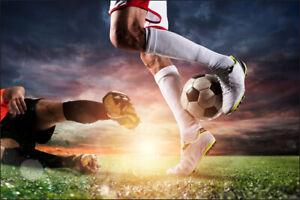VLIES FOTOTAPETE XXL TAPETE Fußball Spieler Spiel Sport 12133