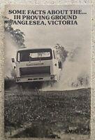 1981 International Proving Ground Anglesea original Australian sales brochure