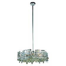 CRYSTAL CHANDELIER PICASSO FOYER DINING LIVING ROOM LIGHTING 6 LIGHT CHANDELIERS