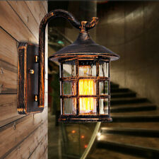 Waterproof Retro Loft Wall Fixture Metal Village Lantern Wall Light Lamp Outdoor