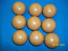"Set of 9 3"" SKEE BALL ICE BALL Redemption BROWN BALLS HARD WEARING PLASTIC New"