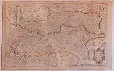 Autriche Danube carte map  LeRouge XVIIIème siècle