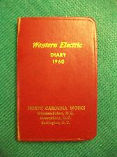 VINTAGE WESTERN ELECTRIC DIARY BOOK 1960
