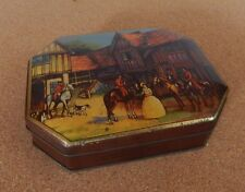 Vintage George W Horner Dainty Dinah Toffee Tin fox hunting scene 13.5 x10.5 cm
