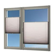Plissee für Fenster und Türen silber-grau 110x140 ohne Bohren Rollo Jalousie