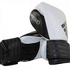 Adidas Hybrid 200 Leather Boxing Gloves 16oz White & Black