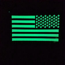 RIGHT IR US FLAG Reflect Tactical Army Morale Hook PATCH/GLOW IN DARK FOREST CP