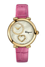 Salvatore Ferragamo Women's FE2040016 Cuore Diamonds Pink 'Beating Heart' Watch