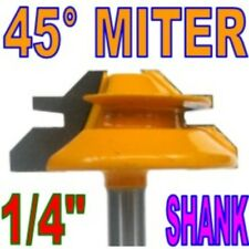 "1 pc 1/4"" SH 1-1/2"" Diameter 45° Lock Miter Router Bit  sct 888"