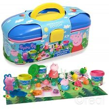 New Peppa Pig's Picnic Play Dough Activity Case Set Creative Toy Doh Official