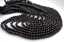 "13"" strand black SPINEL faceted ROUND gem stone beads 4mm - 4.5mm"