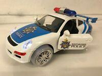 POLICE CAR STUNT BUMP & GO CAR LED LIGHTS & MUSIC BOYS GIRLS TOYS