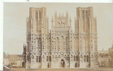 Somerset Postcard - Wells Cathedral - The West Front   V1844