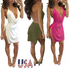 Sexy Women Bandage Dress Bodycon Sleevess Evening Party Cocktail Club Dress